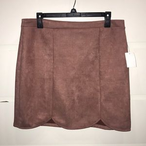 NWT PINK SUEDE SKIRT